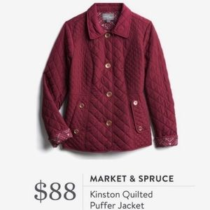 Market & Spruce Kinston Quilted Puffer Jacket